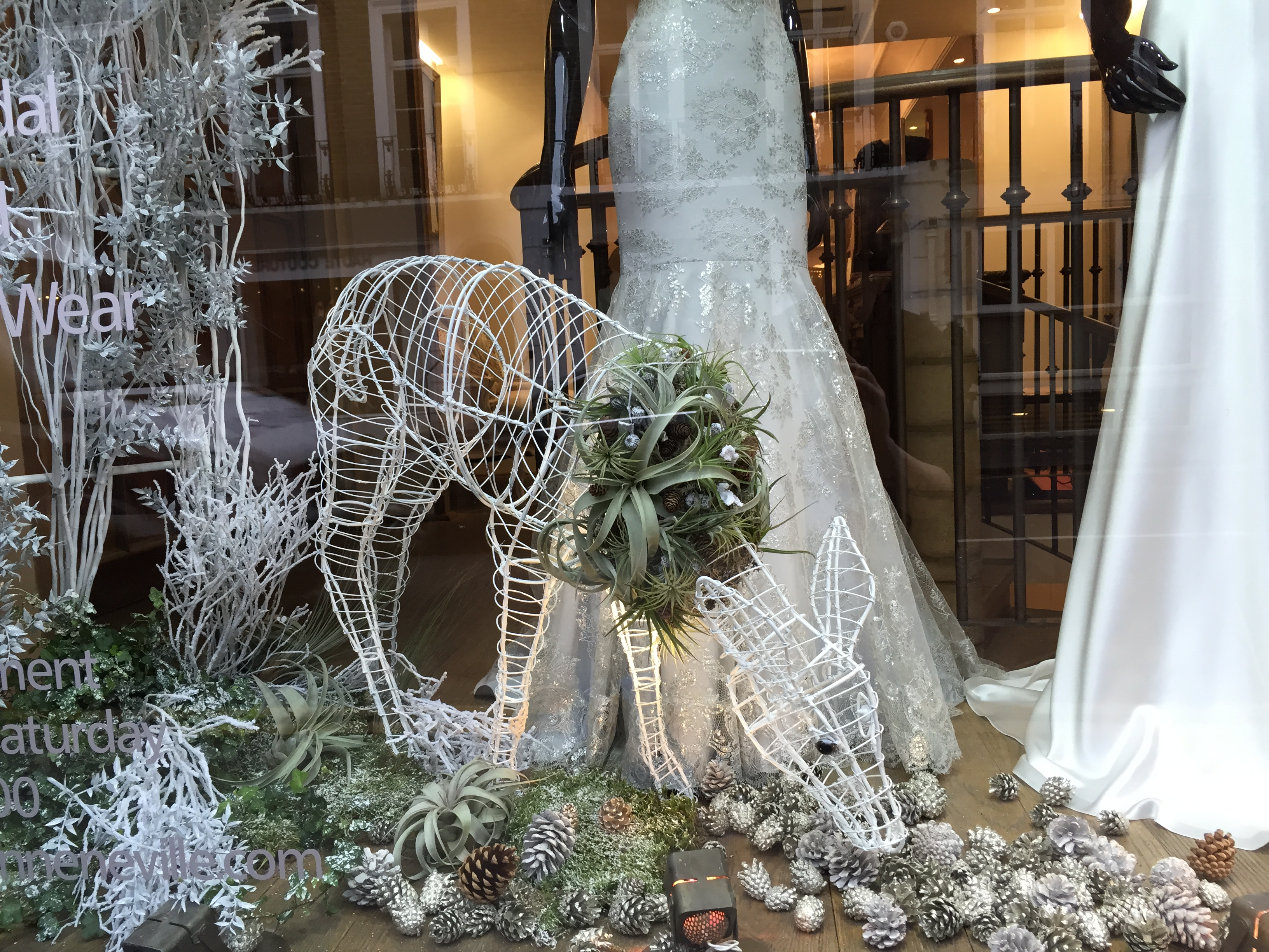 Bloomingayles window install Suzanne Neville 2014 Christmas